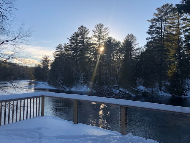 winter views on the river