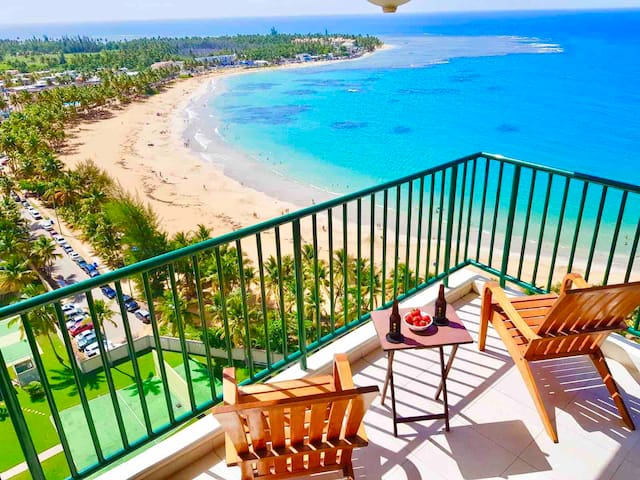 Incredible ocean views from beachfront corner unit