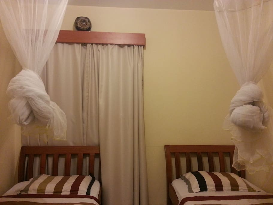 Two beds in the spacious bedroom