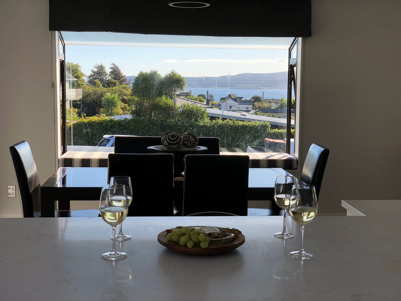 Lake views from the dining area