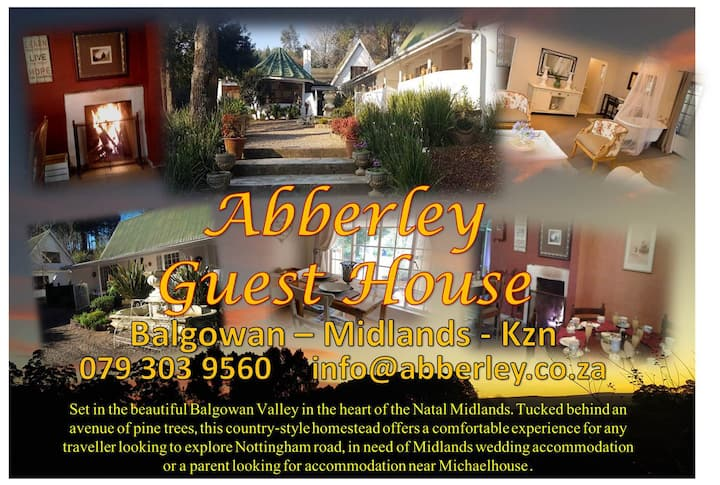 ABBERLEY GUEST HOUSE - MIDLANDS - KZN