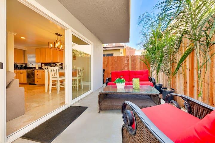 Spacious Home w/ Patio, Steps to Beach, Shopping & More