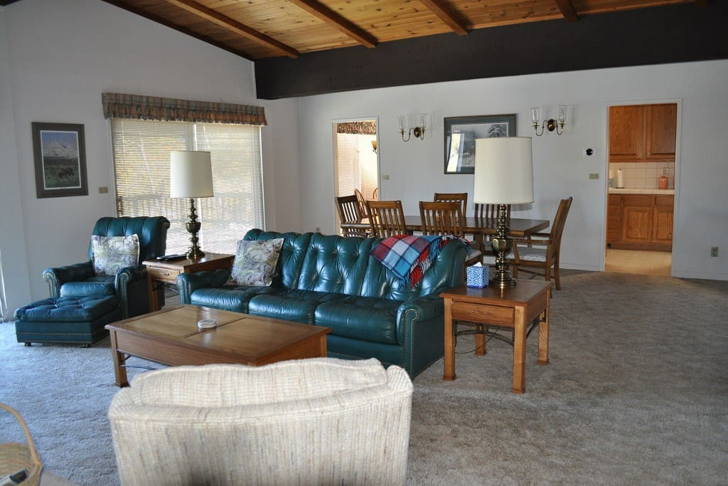 The great room is perfect for you and your group to spread out.