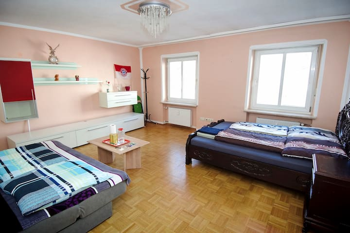 Big room near English Garden 10' to city center - Munich - Apartemen