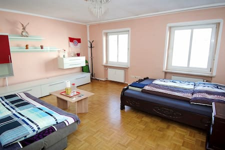 Big room near English Garden 10' to city center - München - Wohnung