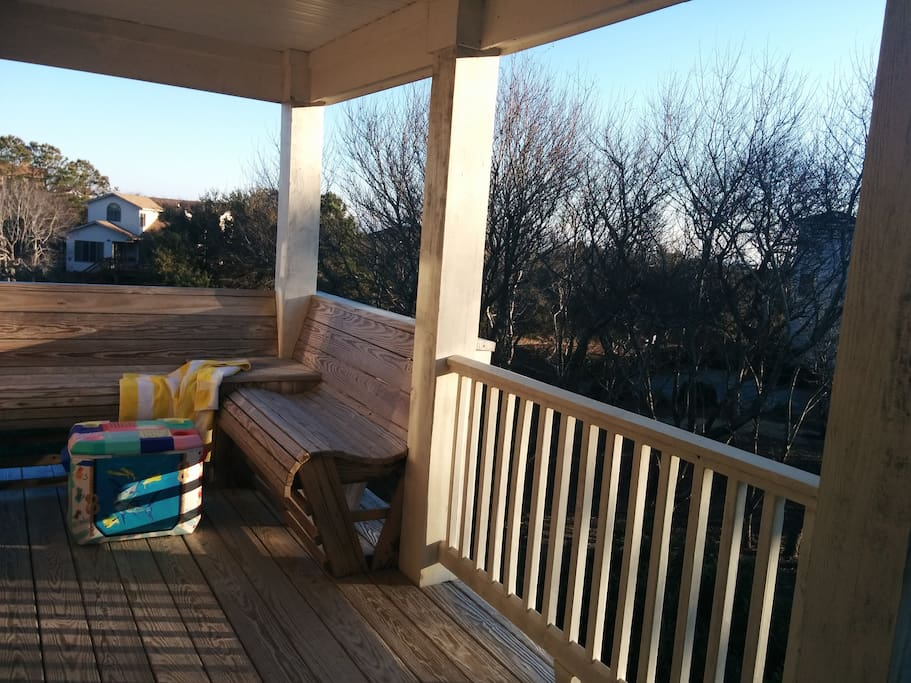 private deck to enjoy the sunrise with a cup of coffee...