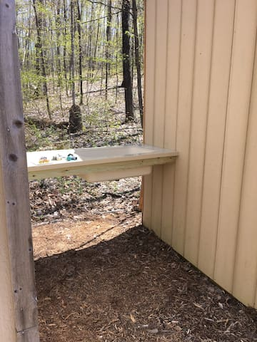 Outdoor cold water sink area for your use as needed.