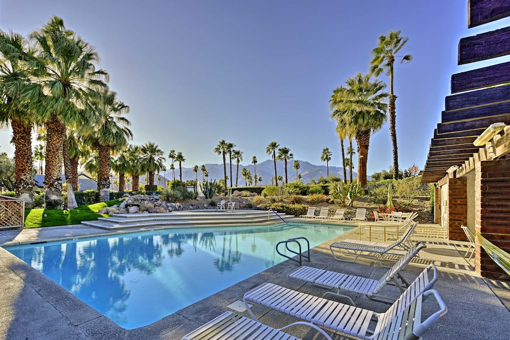 Relax at the community pool and enjoy the beautiful mountain views.