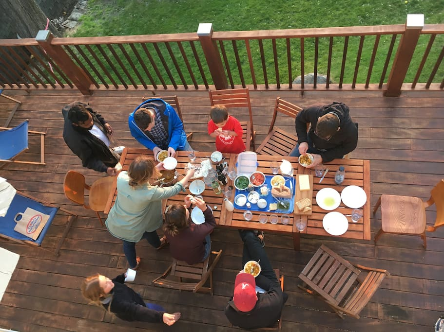 Dinner on the deck