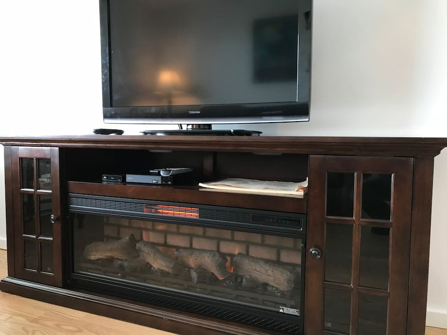New Infrared Fireplace/Entertainment center