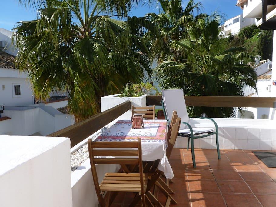 Table déjeuner terrasse