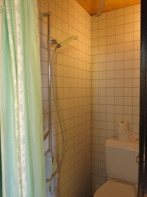 WC mit Dusche im Zimmer