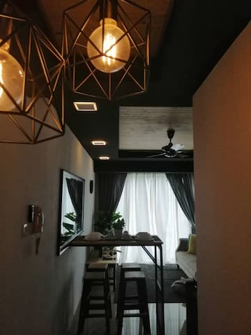 As you enter into Wood & Steel Homestay