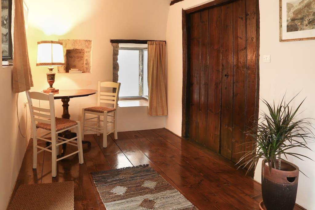 Upper floor brown room