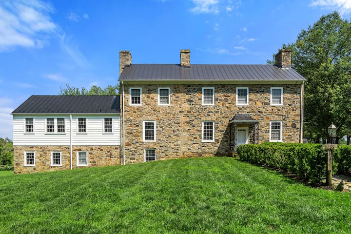 Charming stone farm house in horse country