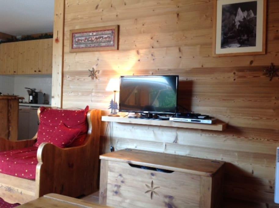 Suite Espace Salon + TV satellite + lecteur DVD