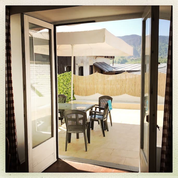 Terrace - The heart of the apartment. Beautiful outdoor terrace for relaxing and breathtaking view