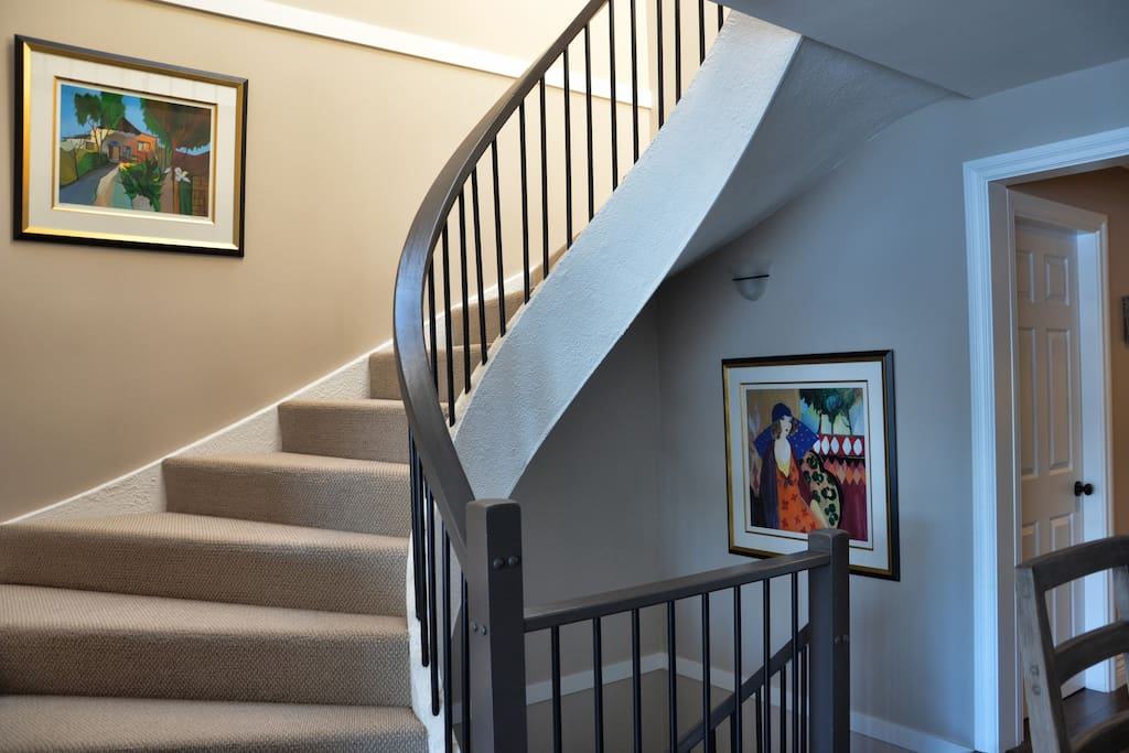 Stairs coming down from Entrance Level