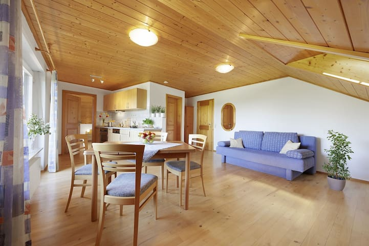 Winzerhof Wörner, (Durbach), Ferienwohnung, 50 qm, Balkon, 1 Schlafzimmer, max. 2 Erwachsene und 2 Kinder