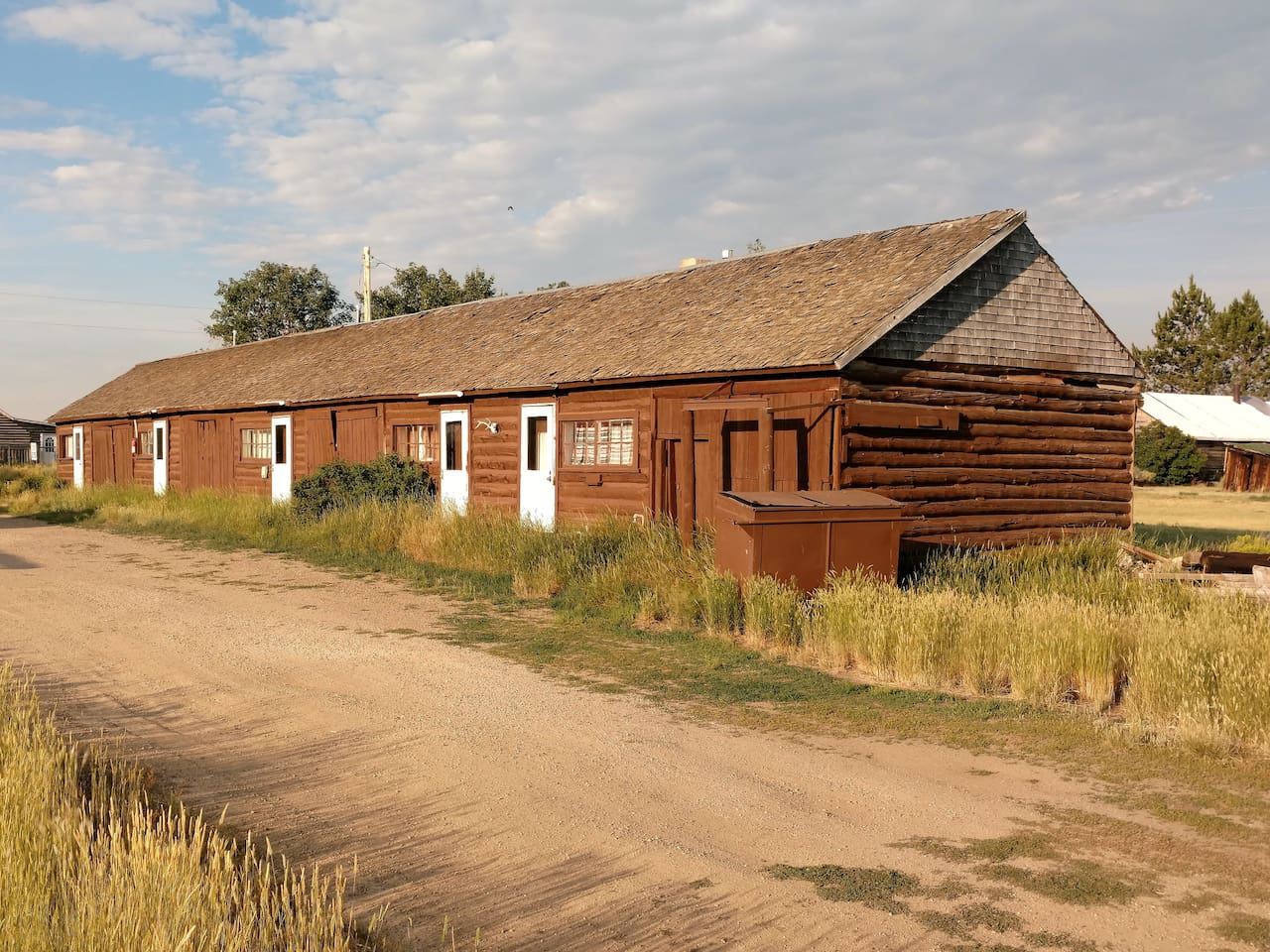 Southwest View of Cabins