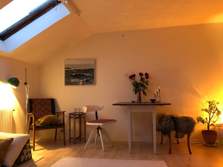 Cosy attic flat in the heart of vibrant Möllan