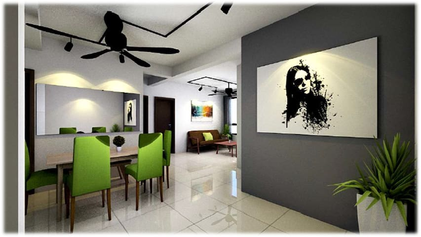 Cosy Stay 3 BR @ The Heights Residence (Homestay)