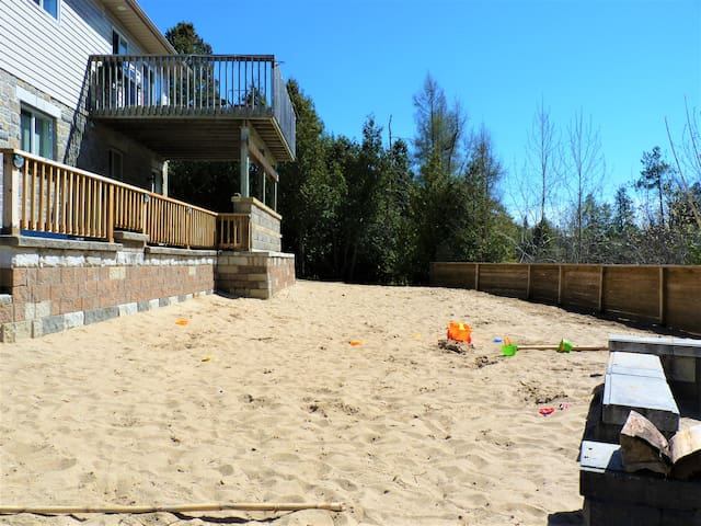 Your personal sand box onsite - minus the crowds and overflowing wagon.