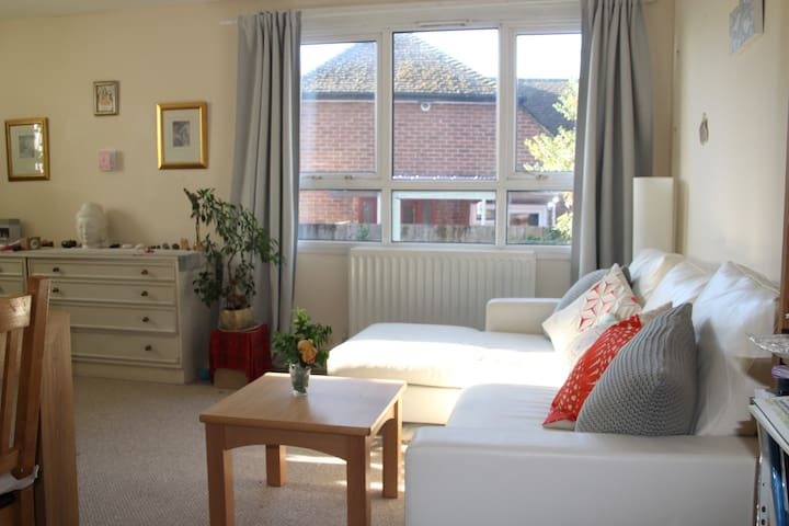 Spacious double room in quiet flat, in Bourne End