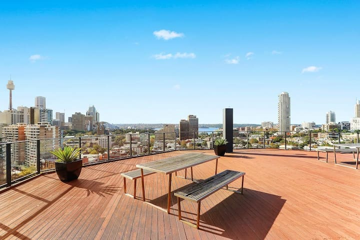 Stunning views from the rooftop terrace.