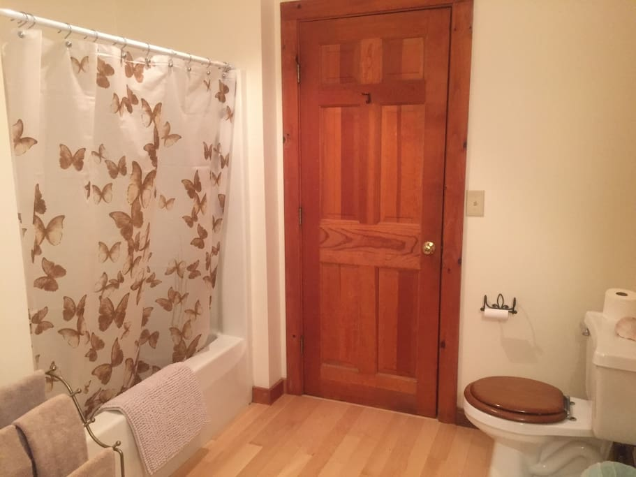 Your private bathroom is extremely clean with bath/shower.