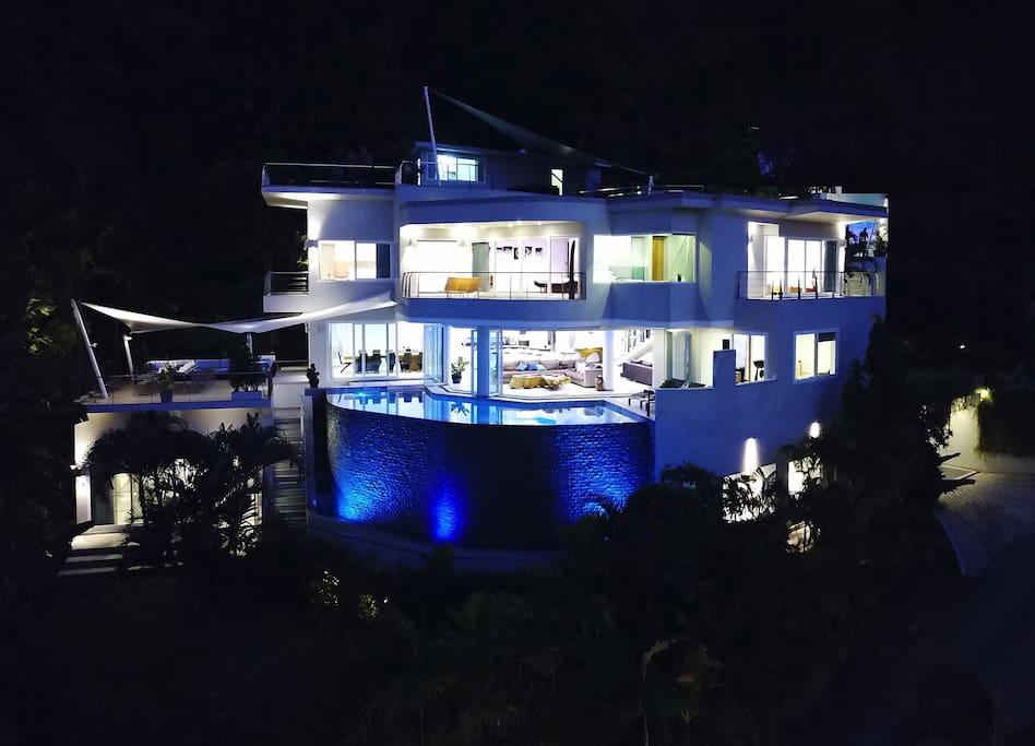 Villa Beyond at Dusk