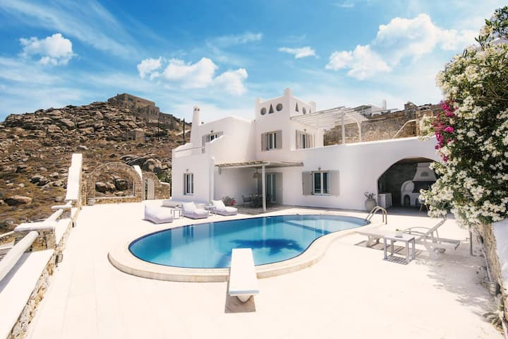 Villa Dolfino 4BED Pool/Sunset in Mykonos