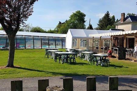 Location Mobil-home sur camping 3 étoiles - Le Bec-Hellouin