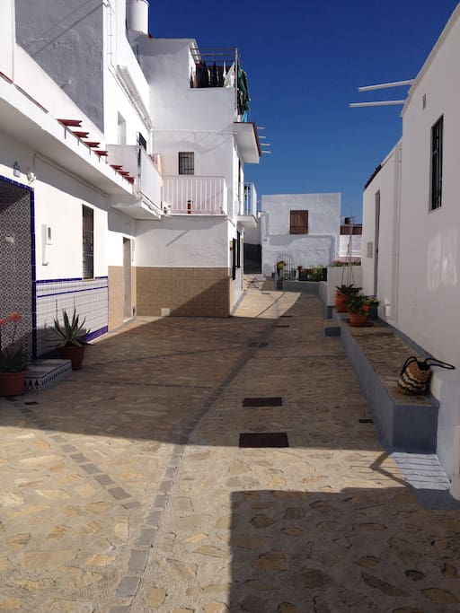 Calle Albarrada - very quiet and safe street.