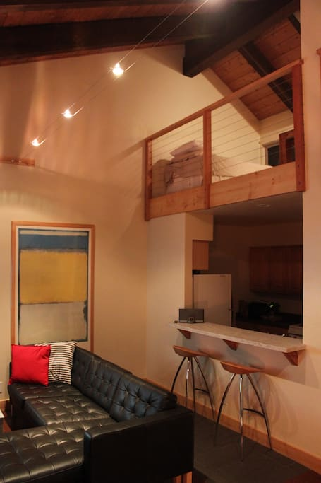 Living Room and loft area