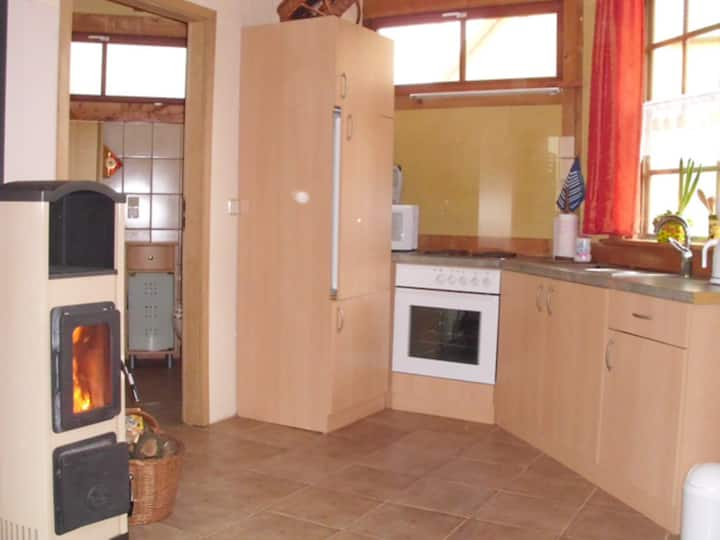 Vacation Home Priepert near the River with A/C, Fireplace, Wi-Fi, Shared Terrace & Garden; Parking Available