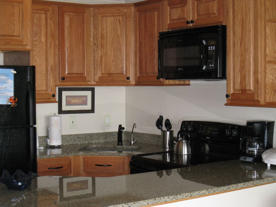 Custom kitchen; well-equipped