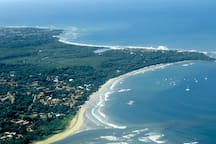 Tamarindo and Langosta aerial view