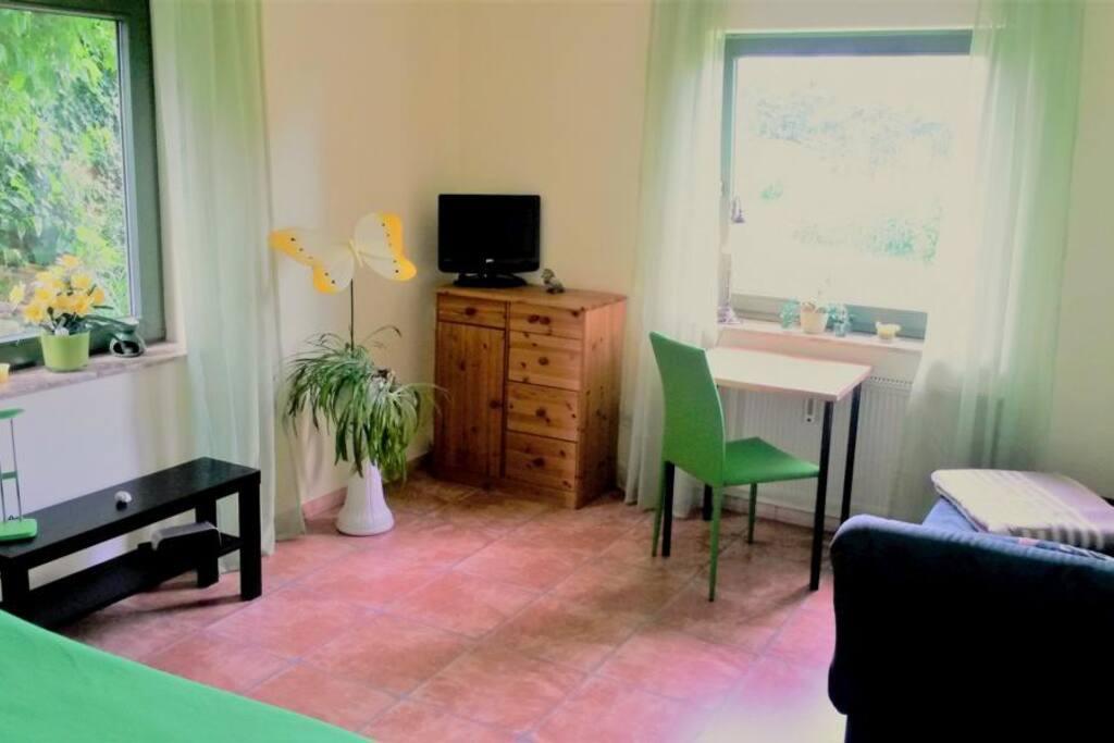 """Übernachtung 1 """"Eibe"""" - Einzelbett und Liegesofa"""