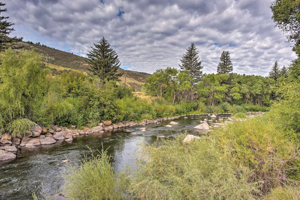 This condo is nestled along the the Eagle River.