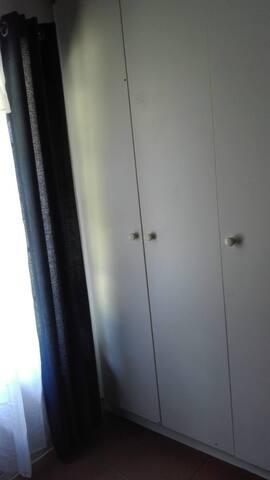 Built-in cupboard in the bedroom