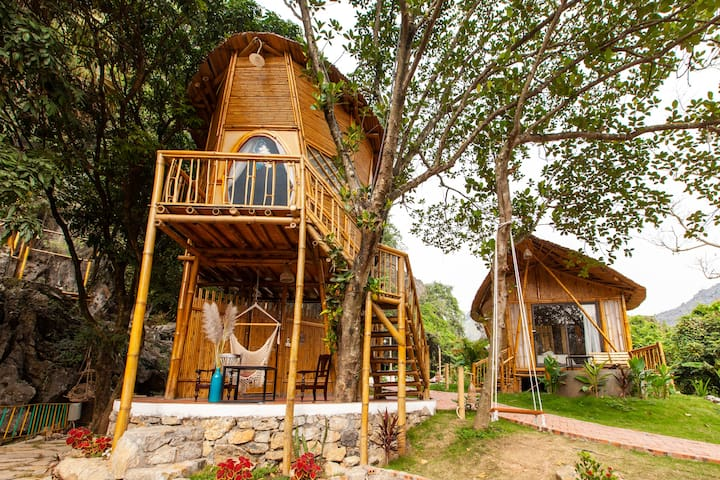 Trang An Lamia Bungalow - Bamboo Treehouse