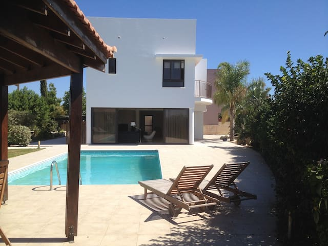 Modern villa with private pool - Mazotos