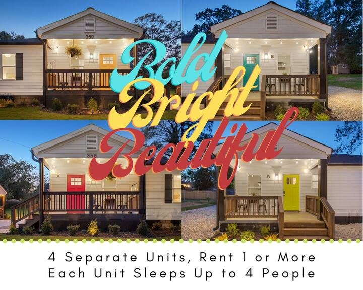 Bold, Bright, Beautiful   Westside Duplexes * From 1 to 16 Guests *   Close to ATL's Hot Spots!