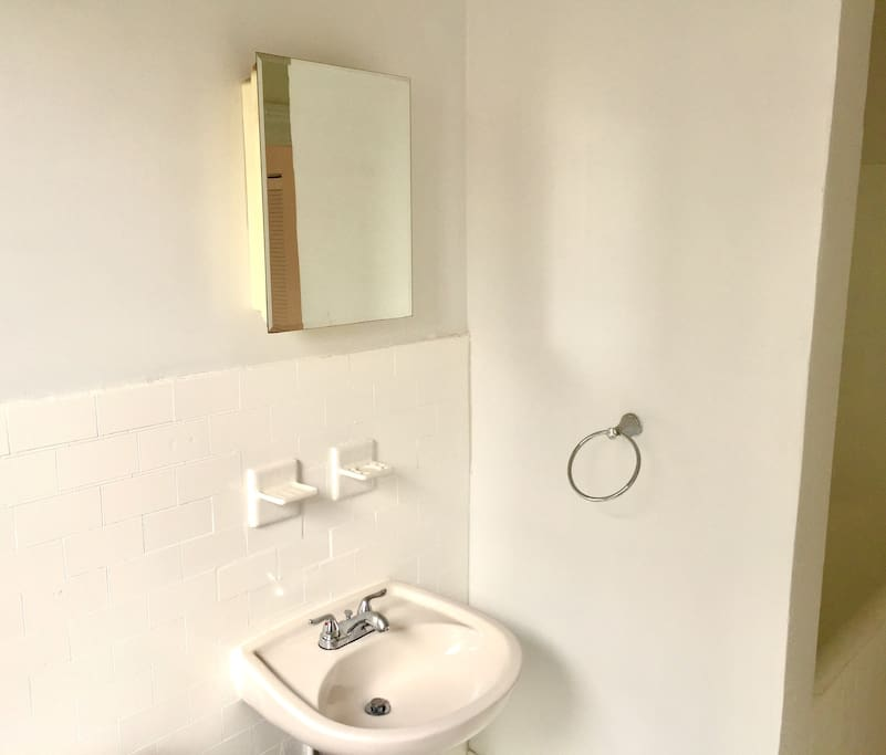 Bathroom sink and tub