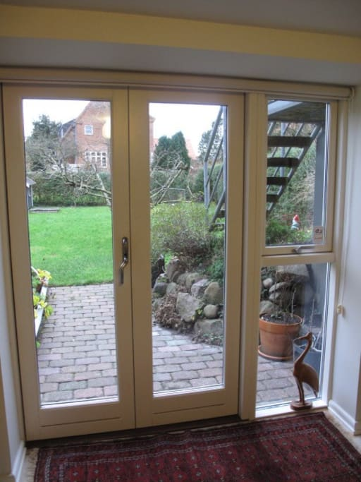 Direct access to terrace and garden