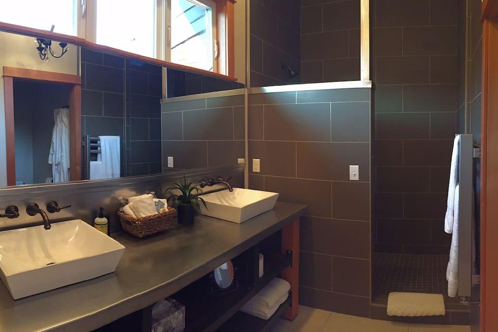 Custom vanity with TWO sinks