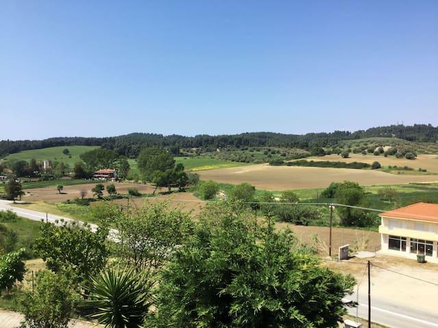 villa with panoramic view in Siviri - Kassandreia - Ev