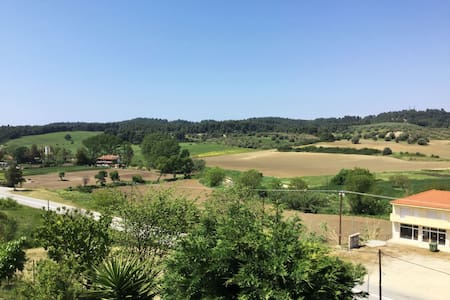 villa with panoramic view in Siviri - Kassandreia