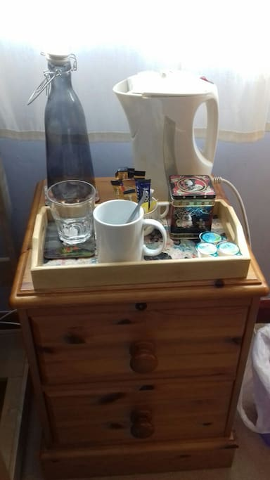Tea tray in your room